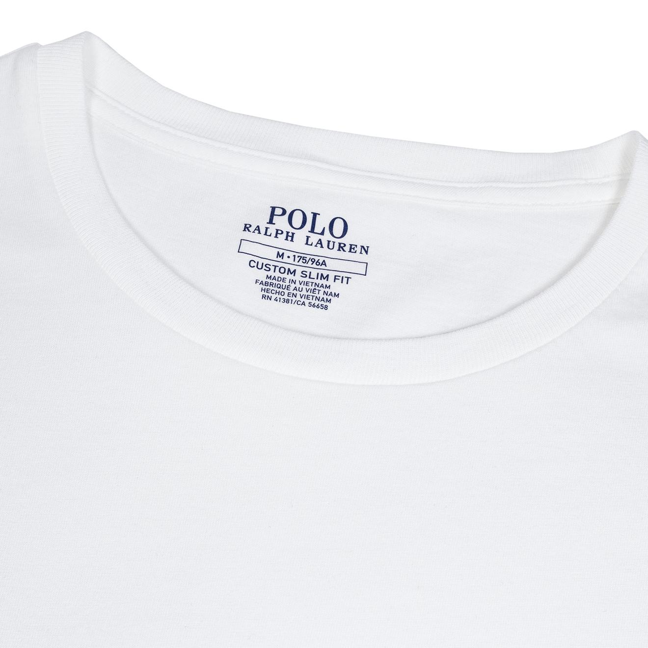 Polo Ralph Lauren Custom Slim Fit Cotton T-Shirt White | The Sporting Lodge