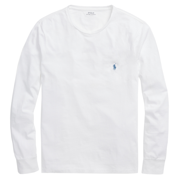 Polo Ralph Lauren Custom Slim Fit Cotton LS T-Shirt White