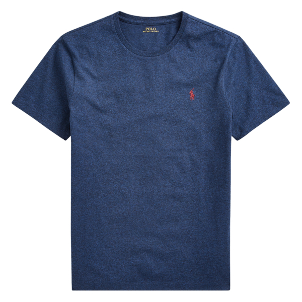 Polo Ralph Lauren Custom Slim Fit Cotton T-Shirt Monroe Blue Heather