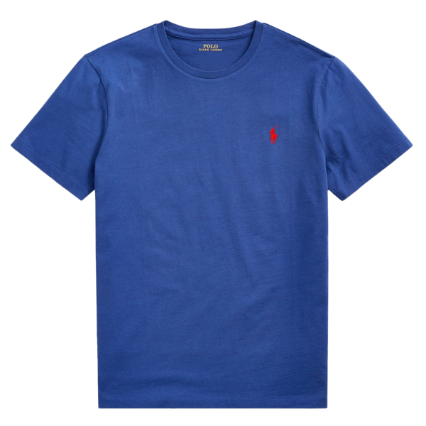 Polo Ralph Lauren Custom Slim Fit Cotton T-Shirt Blue Holiday Sapphire