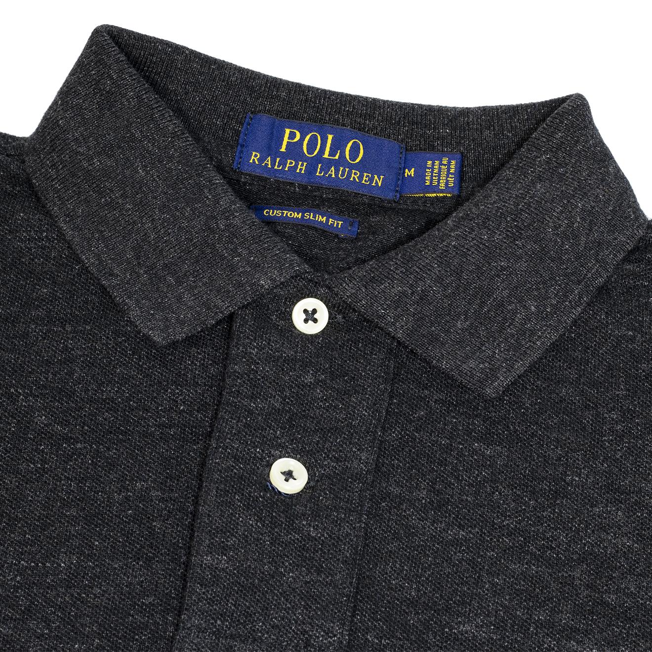 Polo Custom Marl Lodge Sporting Mesh Lauren Heather Fit Ls Ralph The Slim Black kOTZiwPXul