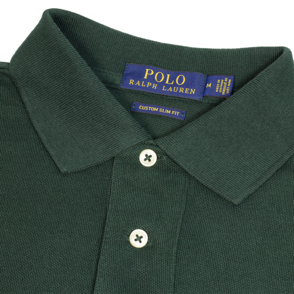 Polo Ralph Lauren Custom Slim Fit Mesh Polo Green