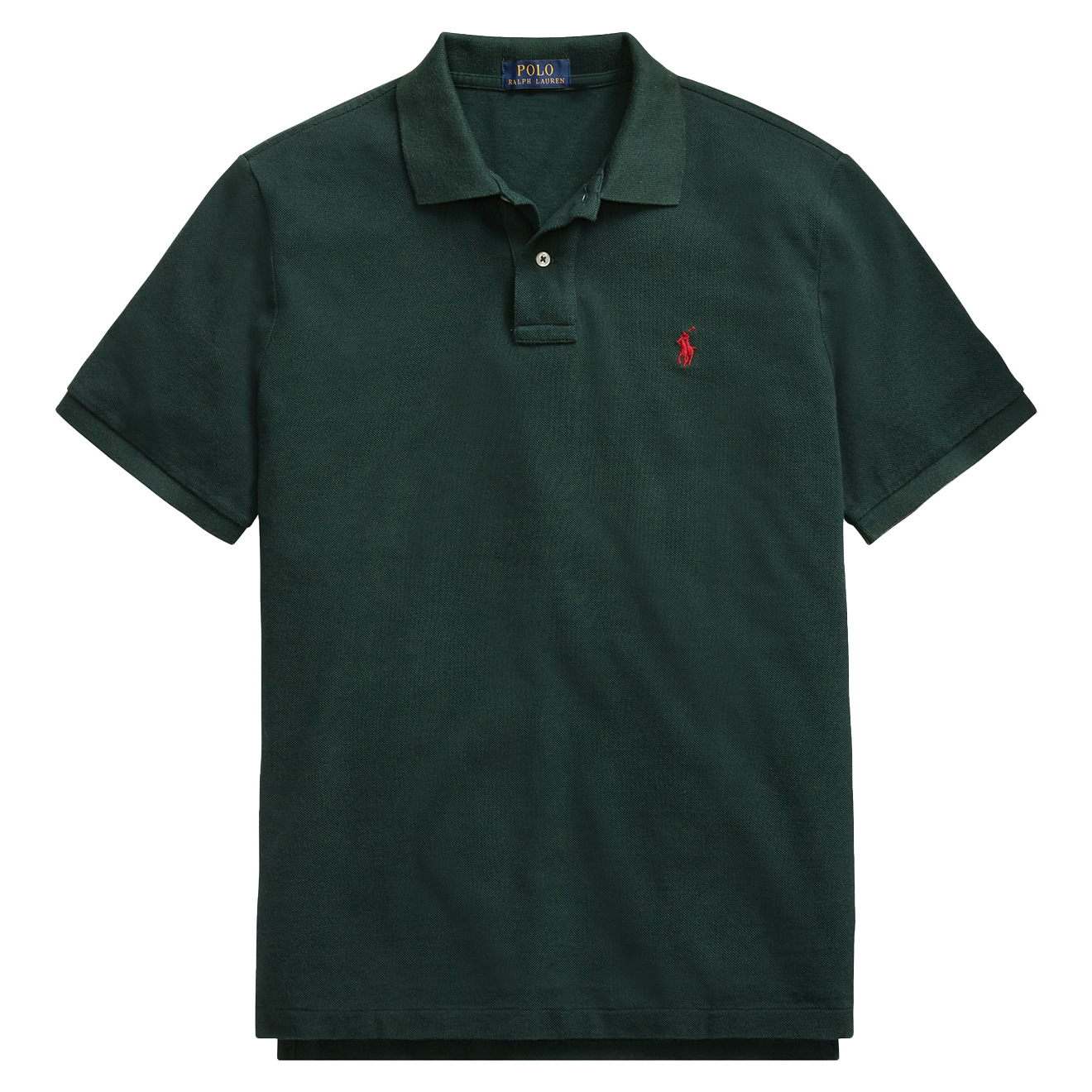 Mesh Polo Custom Fit Ralph Green Lauren Slim KTFl1Jc