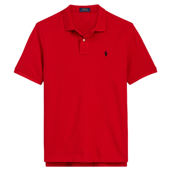 Polo Ralph Lauren Custom Slim Fit Mesh Polo Red