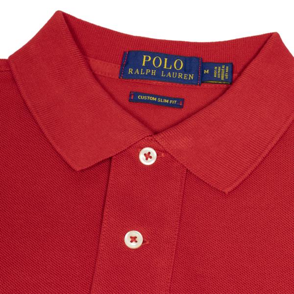 Polo Ralph Lauren Custom Slim Fit Mesh Polo Red