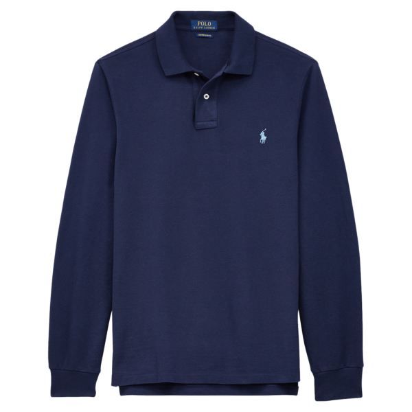 Polo Ralph Lauren Custom Slim Fit LS Polo Newport Navy