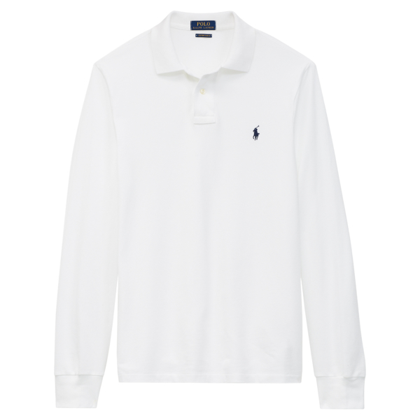 Polo Ralph Lauren Custom Slim Fit LS Polo White