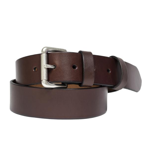 Polo Ralph Lauren Double Keeper Leather Roller Buckle Belt Brown