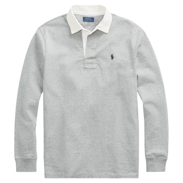 Polo Ralph Lauren Rugby Shirt Grey Heather