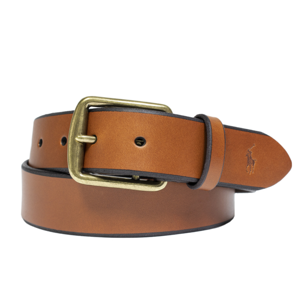 Polo Ralph Lauren Saddle Leather Belt Brown