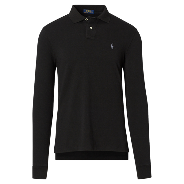 Polo Ralph Lauren Slim Fit Mesh LS Polo Black