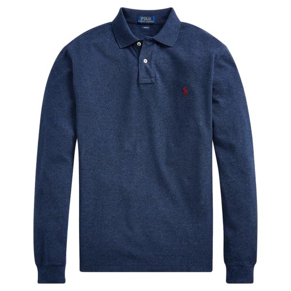 Polo Ralph Lauren Slim Fit Mesh LS Polo Monroe Blue Heather