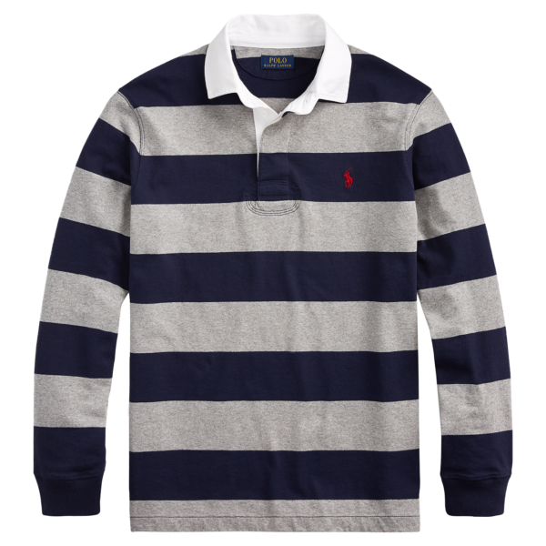 Polo Ralph Lauren Striped Rugby Shirt Grey