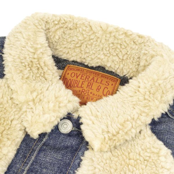 RRL Fleece-Panelled Denim Jacket - Indigo