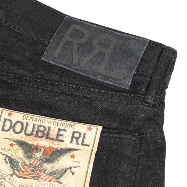 RRL by Ralph Lauren Slim Fit Selvedge Jean New Black on Black