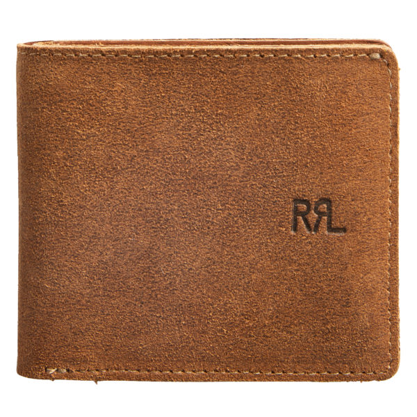 Double RL Billfold Wallet Suede Brown