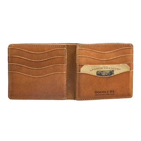 Double RL Billfold Wallet Suede Brown