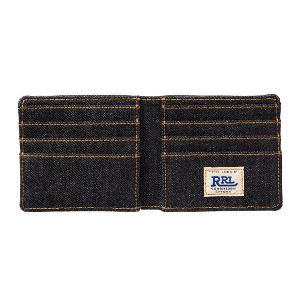 Double RL Billfold Wallet Cotton Indigo