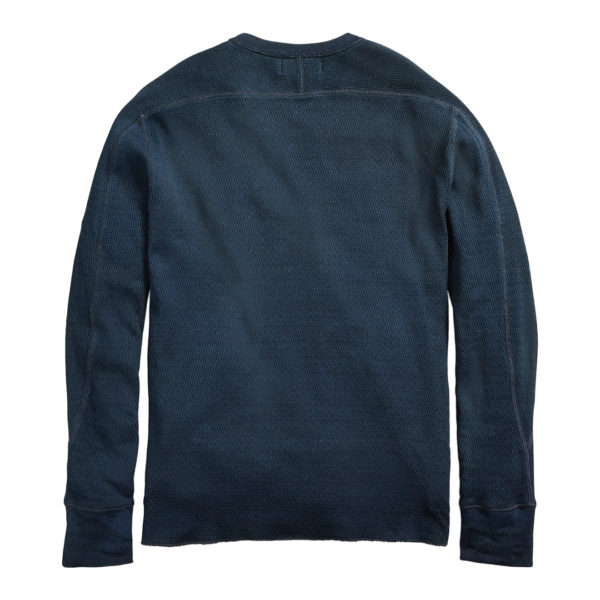 Double RL Crew Neck L/S Knit T-Shirt Rinsed Blue Indigo