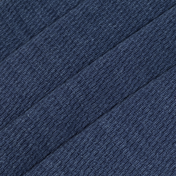 RRL by Ralph Lauren Jacquard-Knit Crew Neck L/S T-Shirt Rinsed Blue Indigo