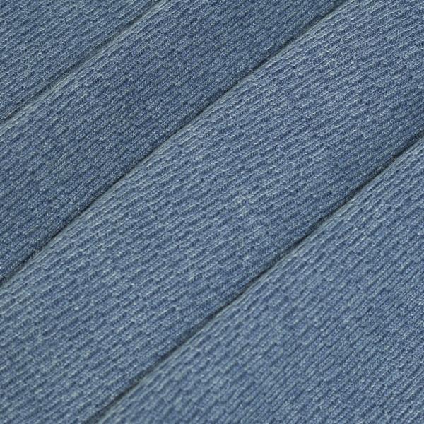 RRL by Ralph Lauren Jacquard-Knit LS Henley T-Shirt Washed Blue Indigo