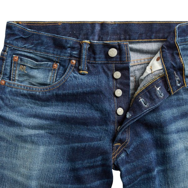 Double RL Low Straight 5 Pocket Denim Milwaukee Denim