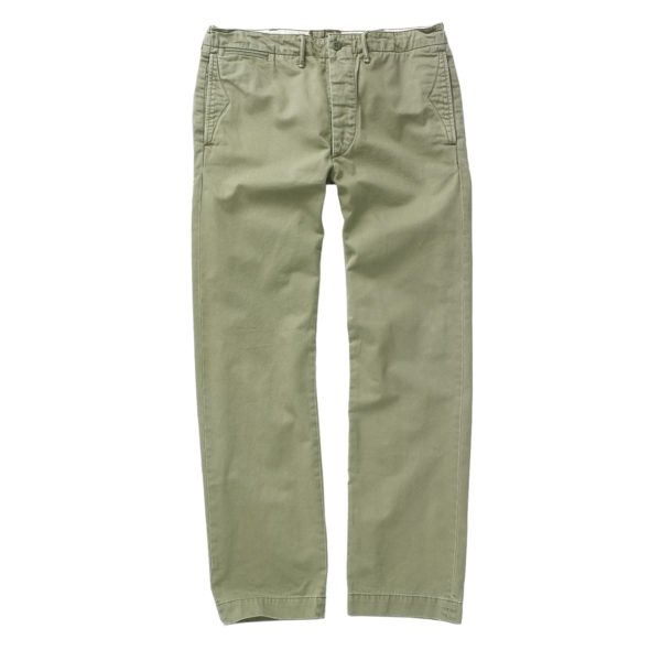Double RL Officers Flat Pant Chino Olive