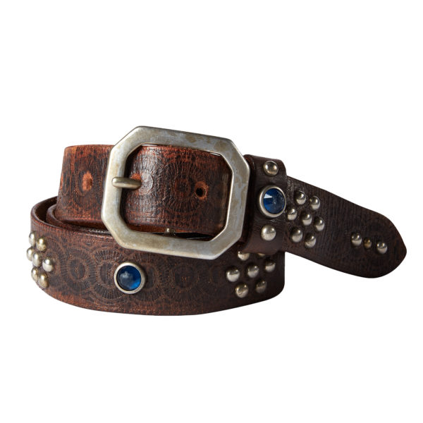 Double RL Rasco Casual Tumbled Leather Belt Black
