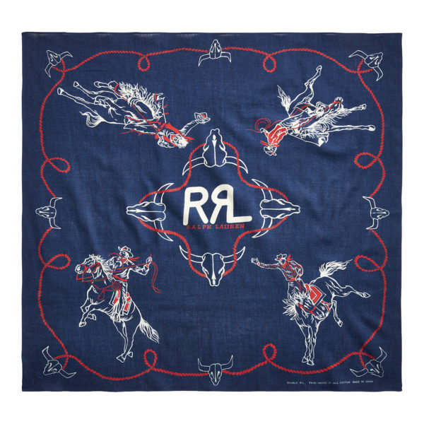 Double RL Rodeo Bandana Indigo