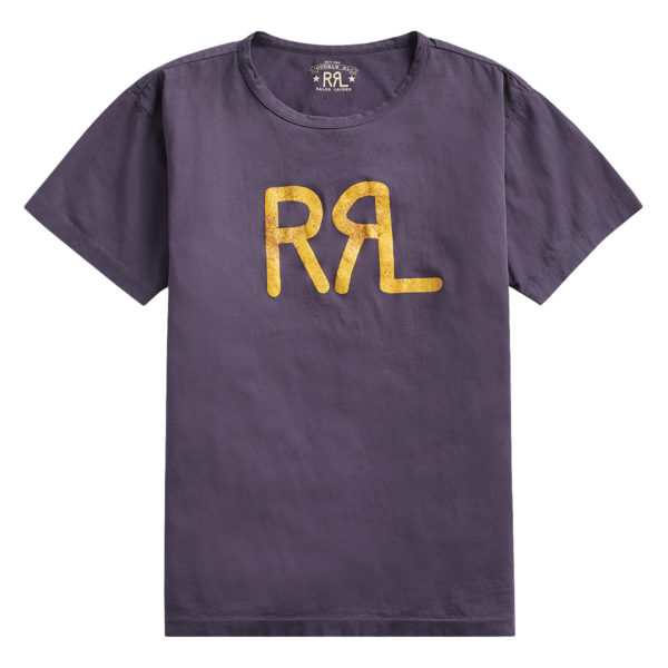 Double RL Logo Crew Neck T-Shirt Trainer Navy
