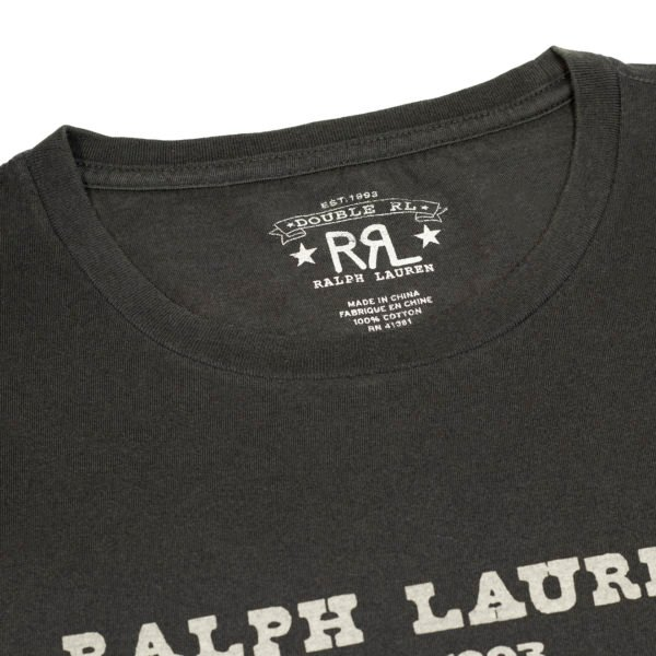 Double RL Graphic Logo T-Shirt Faded Black Canvas
