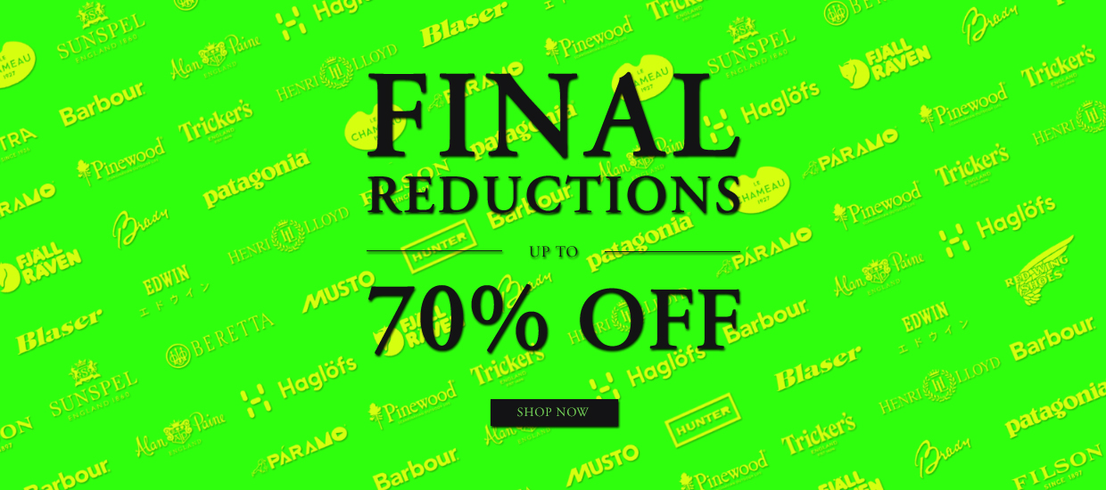 kFinal Reductions Up to 70% off
