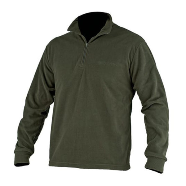 Beretta Light Polar Fleece Half Zip Green Leaf