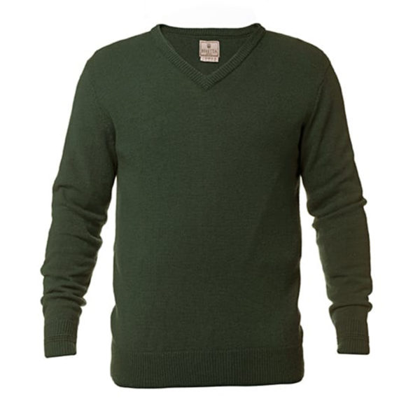 Beretta Classic V-Neck Sweater Forest Green