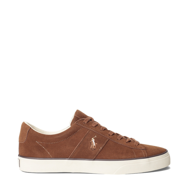 Polo Ralph Lauren Sayer Leather Low-Top Trainer Polo Snuff