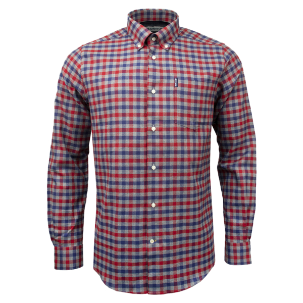 Barbour Country Check 3 Tailored Fit Shirt Rich Red