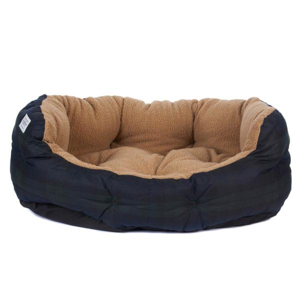 "Barbour Tartan Dog Bed 35"" Black Watch"