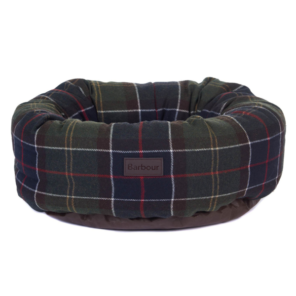 Barbour Dog Bed Small Donut Classic Tartan