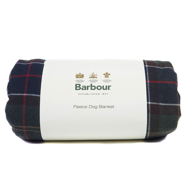 Barbour Large Wool Dog Blanket Classic Tartan