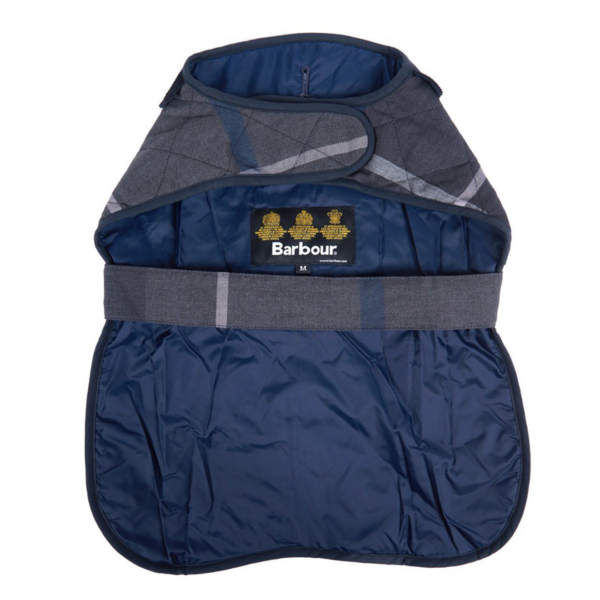 Barbour Quilted Tartan Dog Coat Graphite