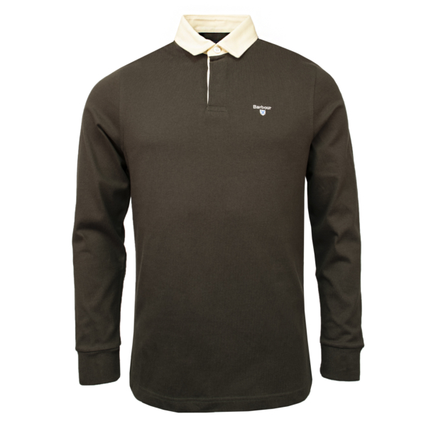 Barbour Shield Rugby Shirt Dark Forest