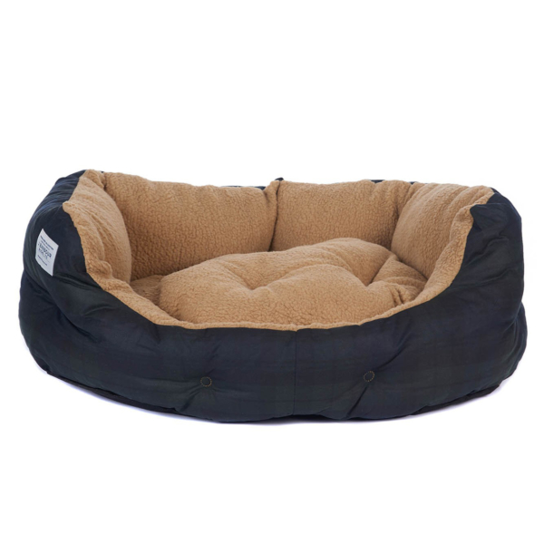"Barbour Tartan Dog Bed 30"" Black Watch"