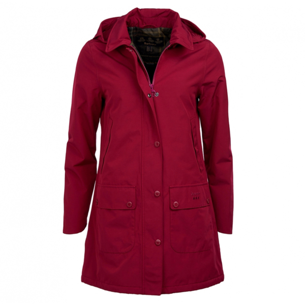 Barbour Womens Brisk Jacket Deep Pink