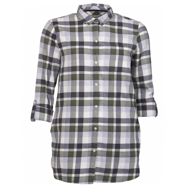 Barbour Womens Lewes LS Shirt Green / Grey