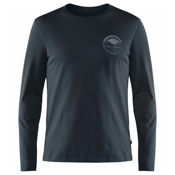 Fjallraven Forever Nature Badge LS T-Shirt Dark Navy