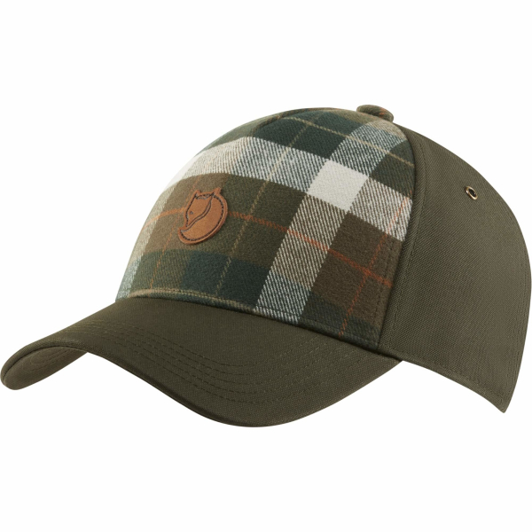 Fjallraven Ovik Plaid Cap Deep Forest