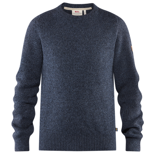Fjallraven Re-Wool Crew Neck Sweater Dark Navy