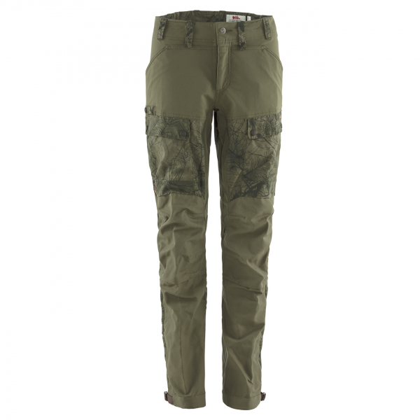 Fjallraven Womens Lappland Hybrid Trousers Camo / Laurel Green