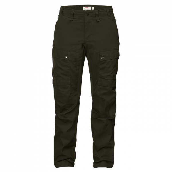 Fjallraven Womens Lappland Hybrid Trousers Deep Forest