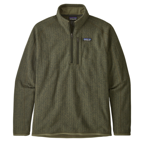 Patagonia Better Sweater Rib Knit 1/4 Zip Fleece Industrial Green